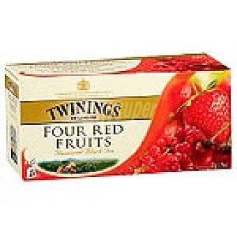 Twinings té 4 frutas rojas Estuche 25 sobres