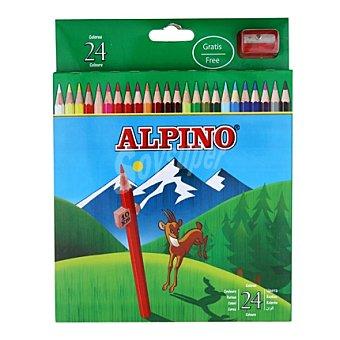 Alpino Estuche de 24 pinturas de diferentes colores + sacapuntas 1 unidad