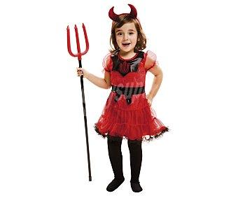 My other me Disfraz para bebé Dulce diablesa, incluye vestido y diadema, talla 12-24 meses ME.