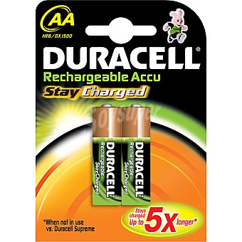 Duracell Pila recargable Active Charge AA (hr6 dx1500) blister 2 unidades