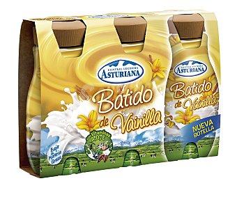 Central Lechera Asturiana Batido de vainilla Pack de 3 uds de 200 ml