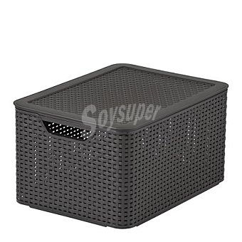 Caja marrón con tapa relieve efecto Rattan Mod. STYLE 1 ud