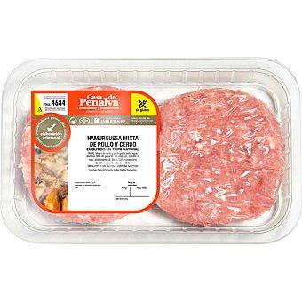 Casa de penalva Hamburguesa mixta de pollo y cerdo sin gluten 4 unidades Bandeja 370 g