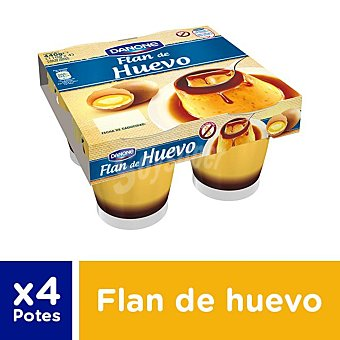 De Postre Danone Flan de Huevo Pack 4 x 110 g