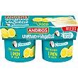 Especialidad vegetal de coco cremoso con limón pack 2 unidades 120 g pack 2 unidades 120 g Andros