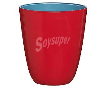 Luminarc Vaso de cristal con 25 cl de capacidad, diseño liso bicolor rojo-azul con acabado mate modelo Spring Break 1 unidad