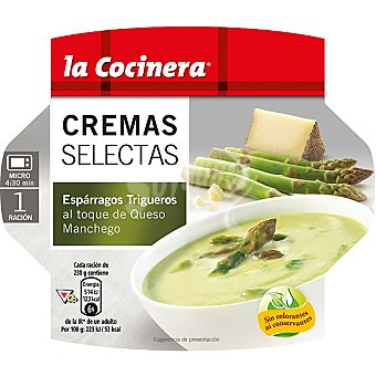 La Cocinera de espárragos trigueros al toque de queso manchego Estuche 230 g