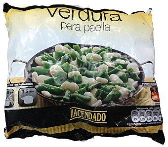 Hacendado Verdura paella congelada Paquete 450 g