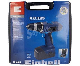 EINHELL Taladro atornillador sin cable, reversible, y con batería de níquel-cadmio (nicd) de 18V y 1300 Amperios hora 1 unidad