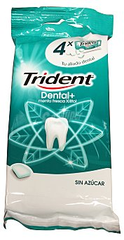 Trident Chicle dental grageas sin azúcar Pack 4 unidades