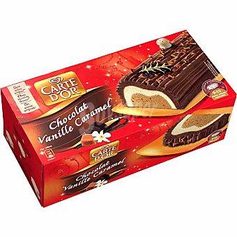 FRIGO CARTE D'OR Tarta de chocolate vainilla y caramelo 9-10 porciones Estuche 1000 ml