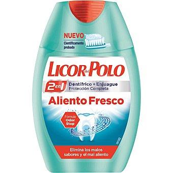 Licor del Polo Dentífrico con elixir 2 en 1 Aliento Fresco elimina malos sabores y el mal aliento Bote 75 ml