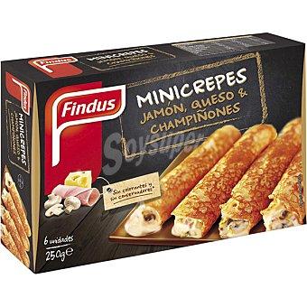 FINDUS mini crepes de jamón queso y champiñones estuche 250 g