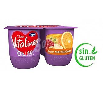 Vitalínea Danone Yogur sabor mango danone Pack 4X125 grs