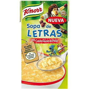 Knorr Sopa de letras Max con caldo suave de pollo Envase 500 ml