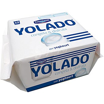 DANONE YOLADO yoghourt natural para congelar pack 4 unidades 75 g