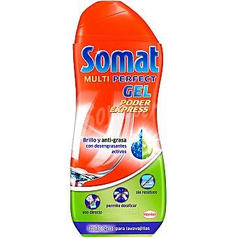 SOMAT detergente lavavajillas Multi Perfect gel Poder Expréss brillo y anti-grasa botella 26 dosis + 5 gratis