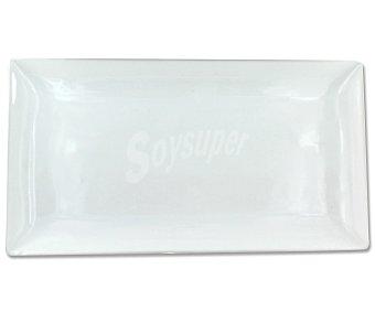 GSMD Fuente de porcelana, diseño rectangular color blanco, modelo Khel, 33x18x0,2 centímetros 1 Unidad