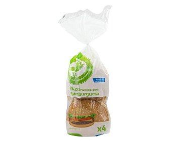 Auchan Pan maxi para hamburguesa con sésamo 300 g.