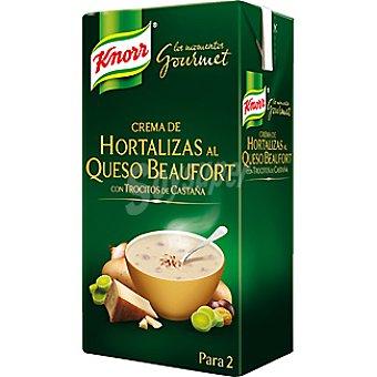 Knorr crema de hortalizas al queso beaufort con trocitos de castaña Los momentos Gourmet envase 500 ml