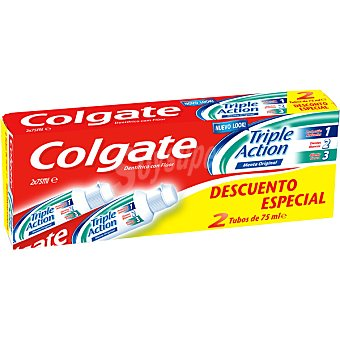 Colgate Pasta de dientes Triple Acción pack 2 tubo 75 ml Pack 2 tubo 75 ml
