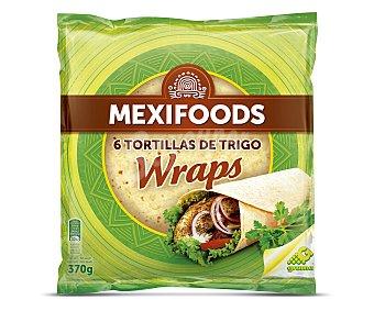 Mexifoods Tortillas de trigo para hacer fajitas Paquete 6 unidades (370 g)