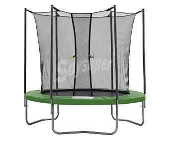 Basics Cama elástica para saltar, 2,44 metros de diámetro, color verde, incluye red de seguridad 1 unidad