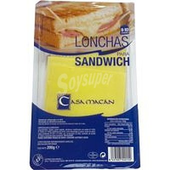 CASA MACAN Queso sandwich Bandeja 200 g