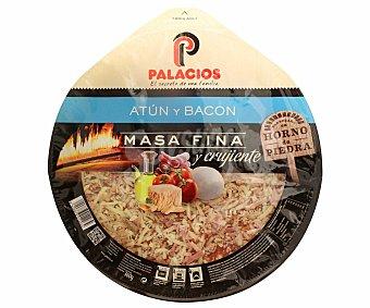 Palacios Pizza Masa Fina Atun Bacon 375 Gramos
