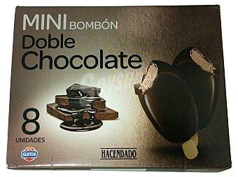 Hacendado Helado palo bombon mini doble chocolate Caja de 8 unidades