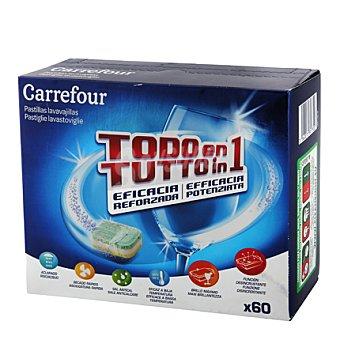 Carrefour Lavavajillas máquina todo en 1 en pastillas 60 ud