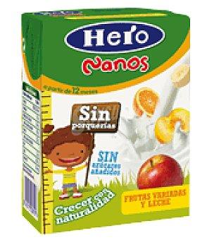 Hero Baby Zumo leche y frutas variadas Nanos 200 ml