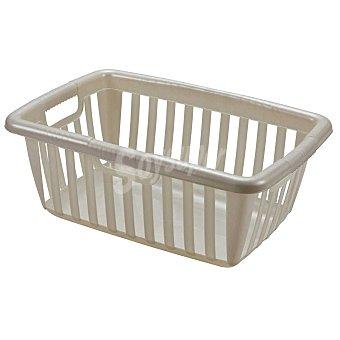 Mondex Cesto para la ropa de Plástico 37 x 56,5 x 23 cm - Translúcido 1 ud