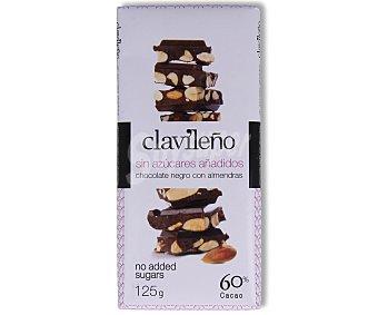 Clavileño Chocolate con almendras sin azúcares añadidos 125 gr