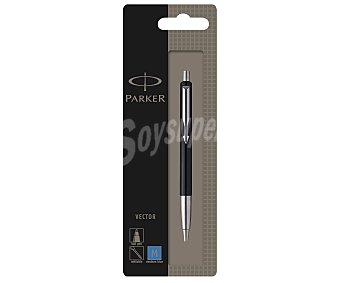 Parker Bolígrafo tipo roller, punta retráctil de grosor medio y tinta líquida color azul Vector 1