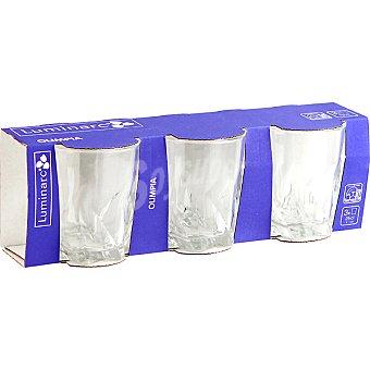 LUMINARC Olimpia Vasos de vidrio set de 3 unidades 25 cl