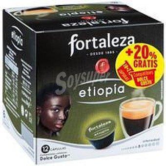 Fortaleza Café Etiopía CDG Caja 12 monodosis