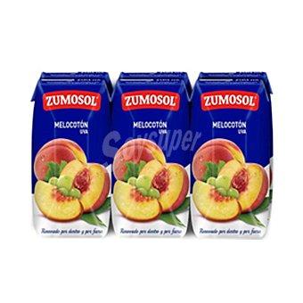 Zumosol Zumo de melocotón y uva Zumosol Pack 3 briks 200 ml