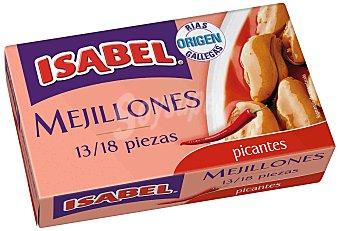 Isabel Mejillones picantes Lata de 69 g (peso neto escurrido)