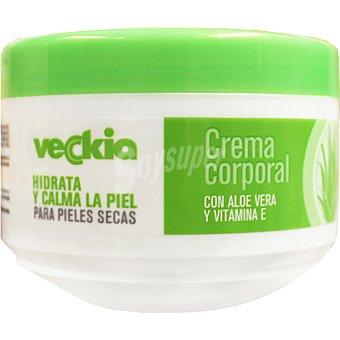 Veckia Crema corporal con aloe vera y vitamina E para pieles secas tarro 250 ml hidrata y calma la piel Tarro 250 ml