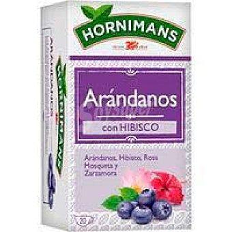 Hornimans Infusión arándanos con hibisco hornimans, caja 20 sobres