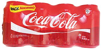 COCA COLA COLA NORMAL LATA PACK 8 x 330 cc - 2640 cc