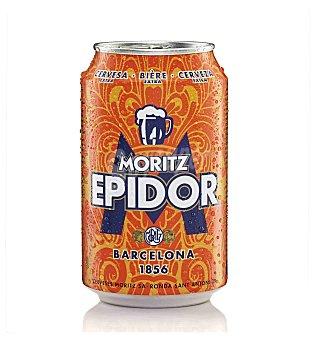 Moritz Epidor Cerveza rubia nacional  Lata 33 cl