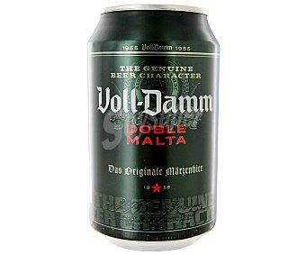 Voll-Damm Cerveza doble malta Lata 33 cl