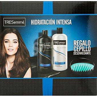 Tresemmé Pack Hidratación Intensa con champú + acondicionador botella 810 ml + regalo de cepillo desenredante botella 810 ml