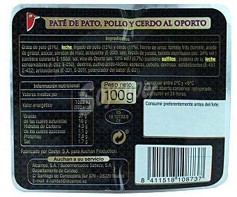 Auchan Paté de pato al oporto 100 gramos