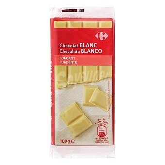 Carrefour Chocolate blanco fondant pack de 2 tabletas de 100 G Pack 2 x 100 g