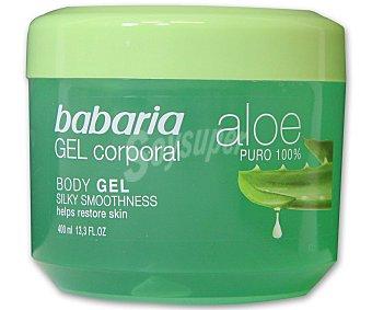 Babaria Gel corporal de aloe vera puro 100% Tarro de 400 mililitros