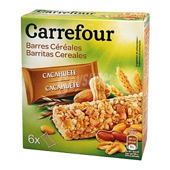 Carrefour Barritas de muestli con cacahuetes 150 g