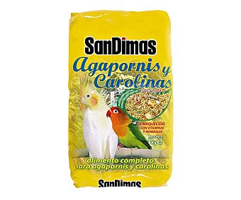 San Dimas Alimento completo para agapornis y carolinas 1 kilogramo